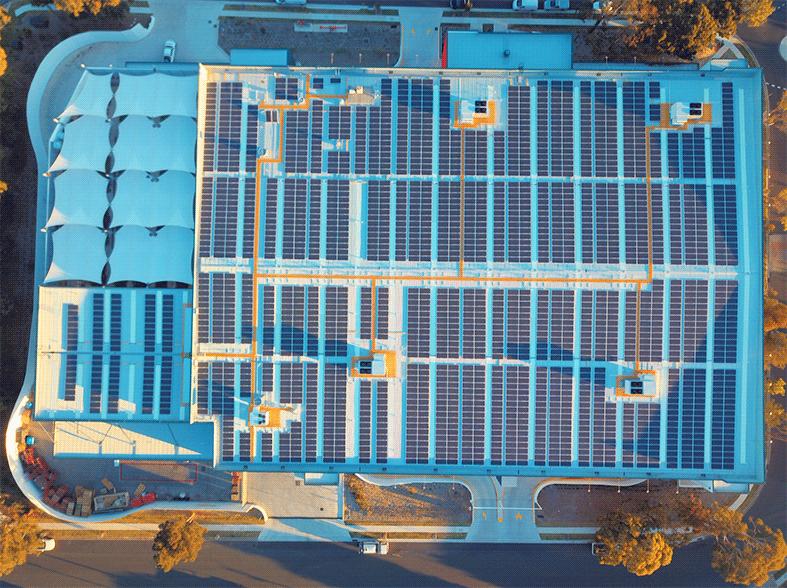 bunnings aerial rooftop